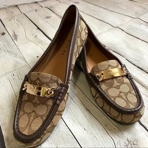 Coach slip on loafers. Women's size 8
